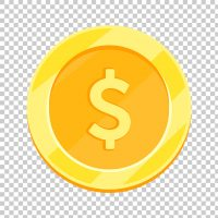 Cash, Dollar Coin, Currency PNG Image Free Download.