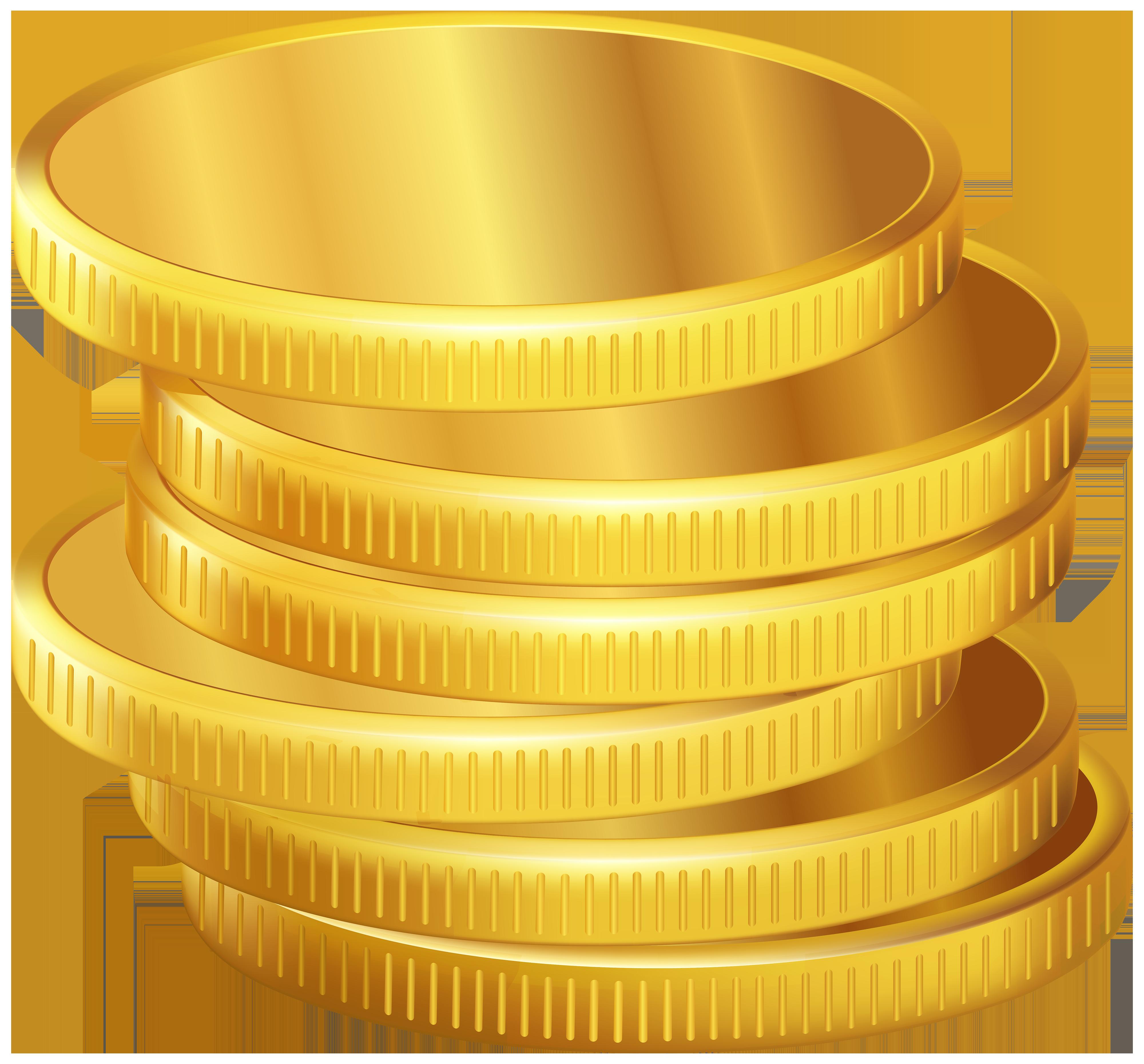 Golden Coins PNG Clipart.