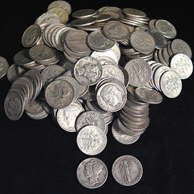 US 90% Silver Coins.