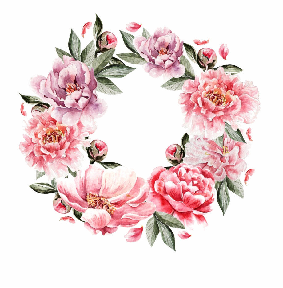 Collection Of Free Peony Vector Flower Garland Download Free.