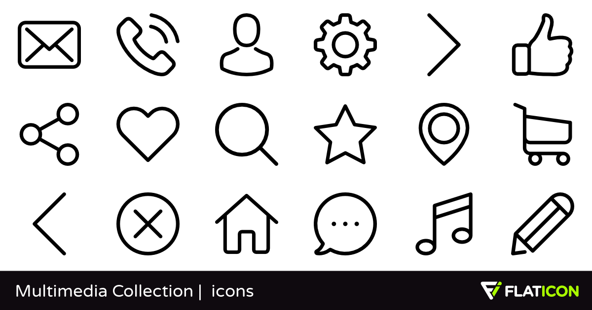 Multimedia Collection 50 free icons (SVG, EPS, PSD, PNG files).