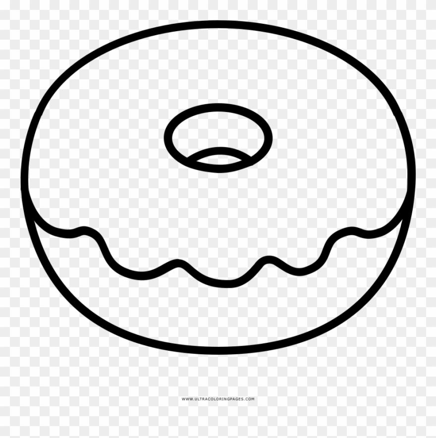 Donut Coloring Pages Doughnut Page Ultra.