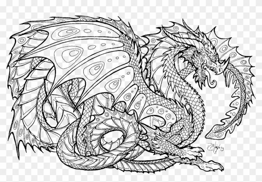 Free Printable Coloring Pages For Adults Advanced Dragons8.
