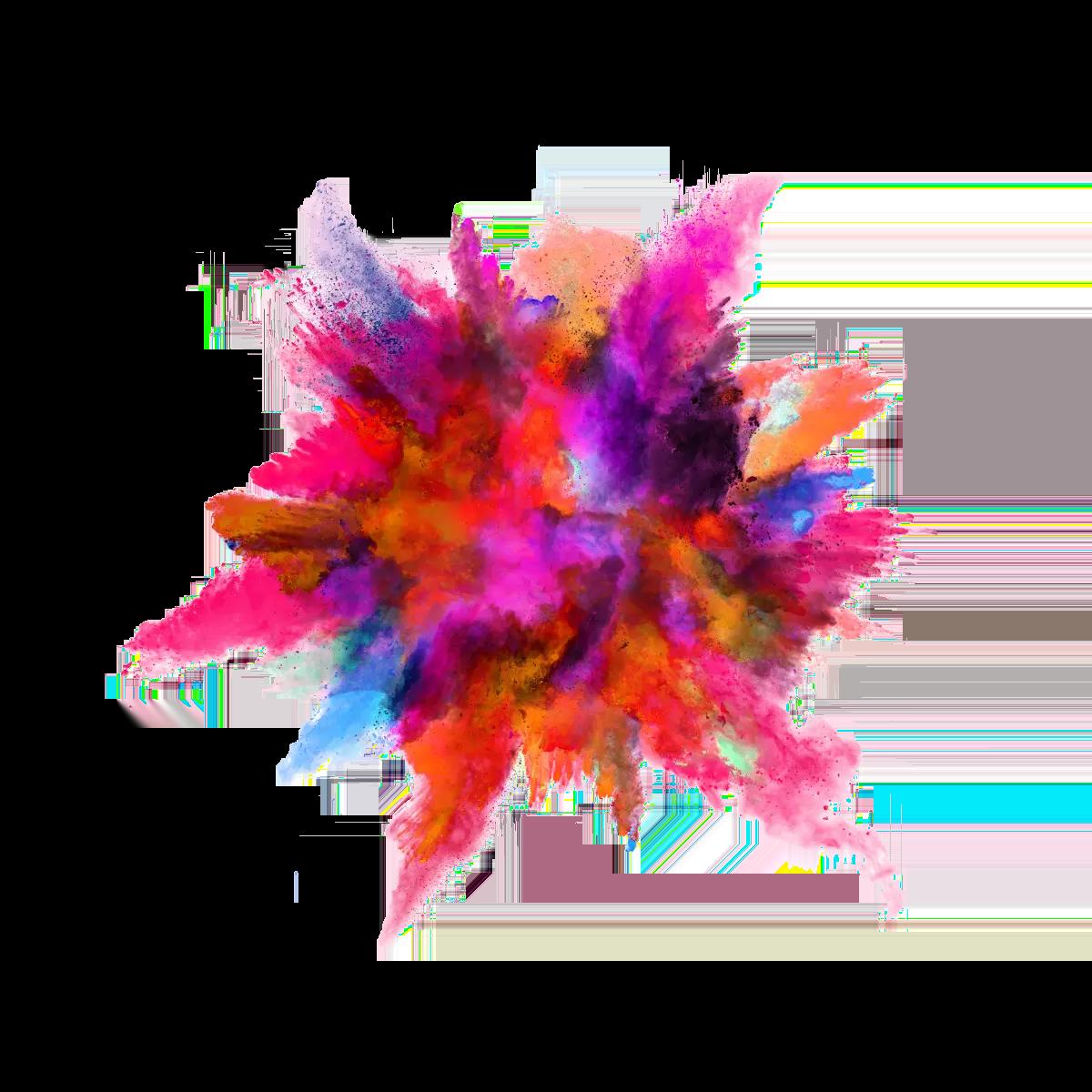 Holi Color Background Transparent PNG.