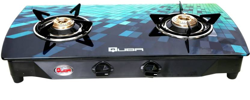Quba Digital Premium Toughened Glass PNG Compatible Stainless Steel Manual  Gas Stove.