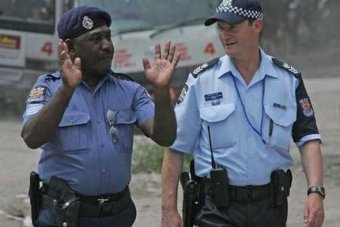 Call for Australian police officers to help bolster law and.