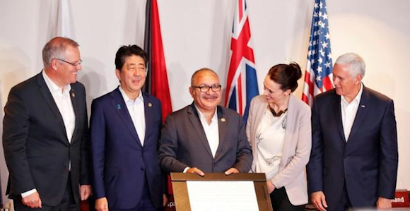 PM signs Papua New Guinea Electrification Partnership with.