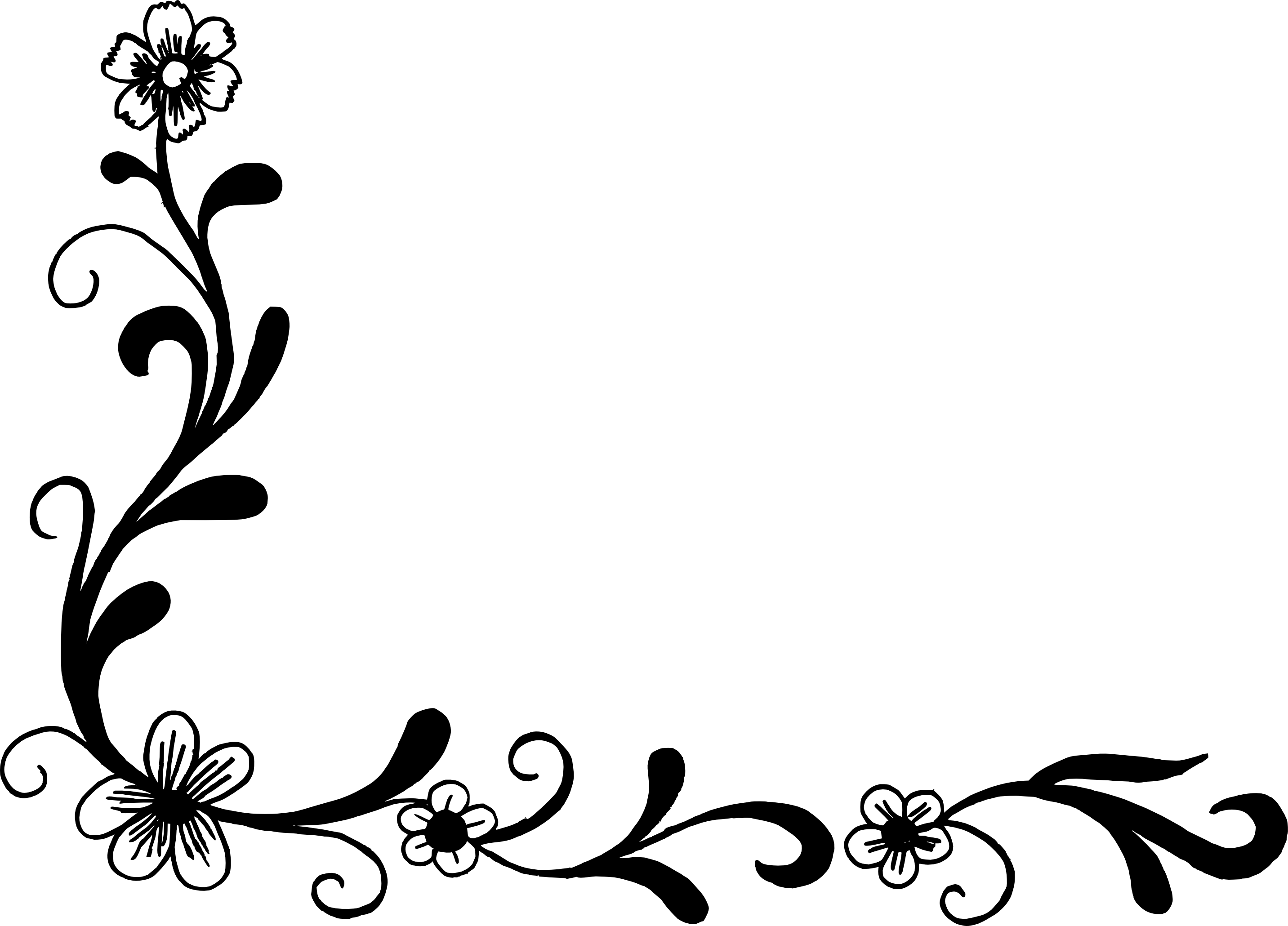 18 Flower Corner Vector (PNG Transparent, SVG).