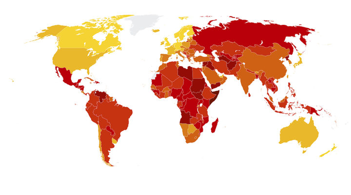 PNG improves ranking in global corruption index.