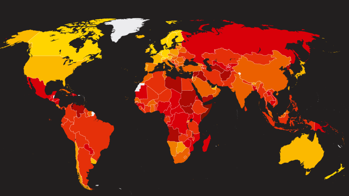 Corruption Perceptions Index 2018.