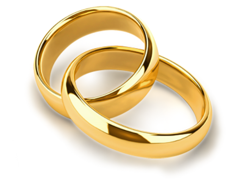 Wedding Golden Ring Clipart PNG HD Couple (2).