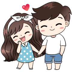 Boobib Cute Couple.