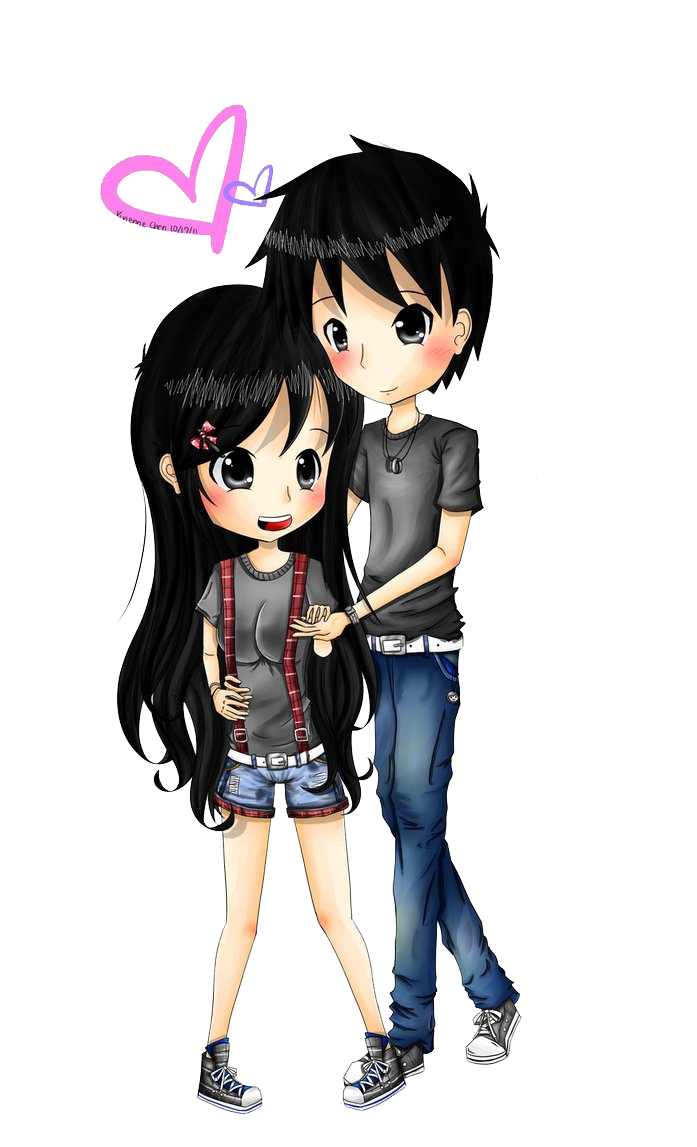 Anime Couple PNG Images Transparent Free Download.