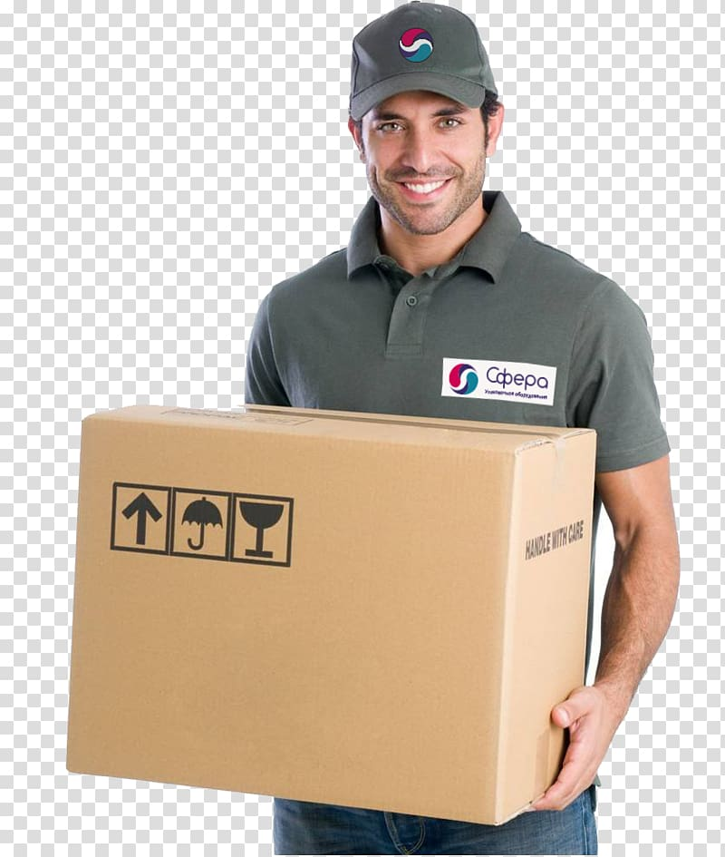 Mover Courier Package delivery Parcel, cargo transparent.