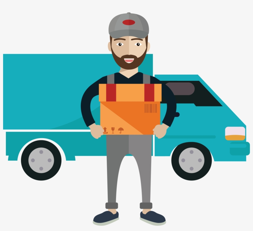 Delivery Courier Royalty Free Illustration.
