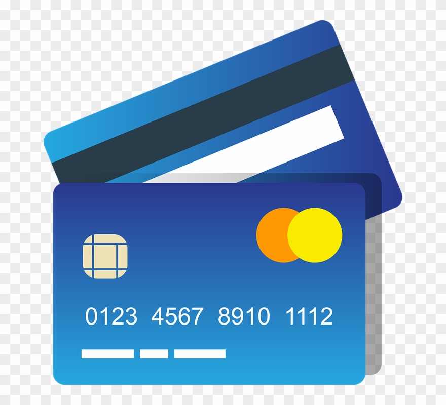 Blue Credit Card Clipart Photo.
