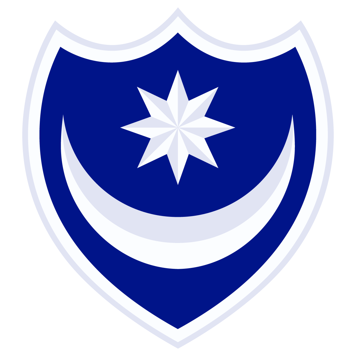 Portsmouth FC Football Club Crest Logo Vector.
