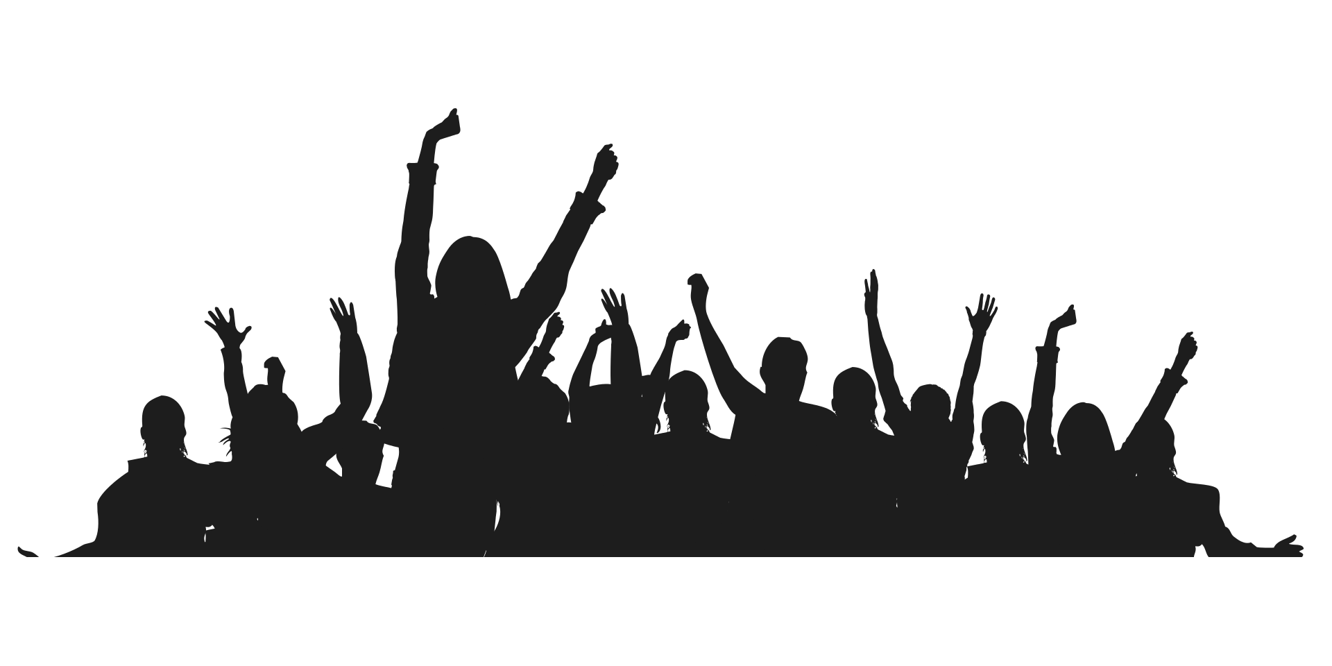 People,Crowd,Social group,Cheering,Silhouette,Font,Audience.