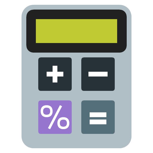 calculator device finance icon.