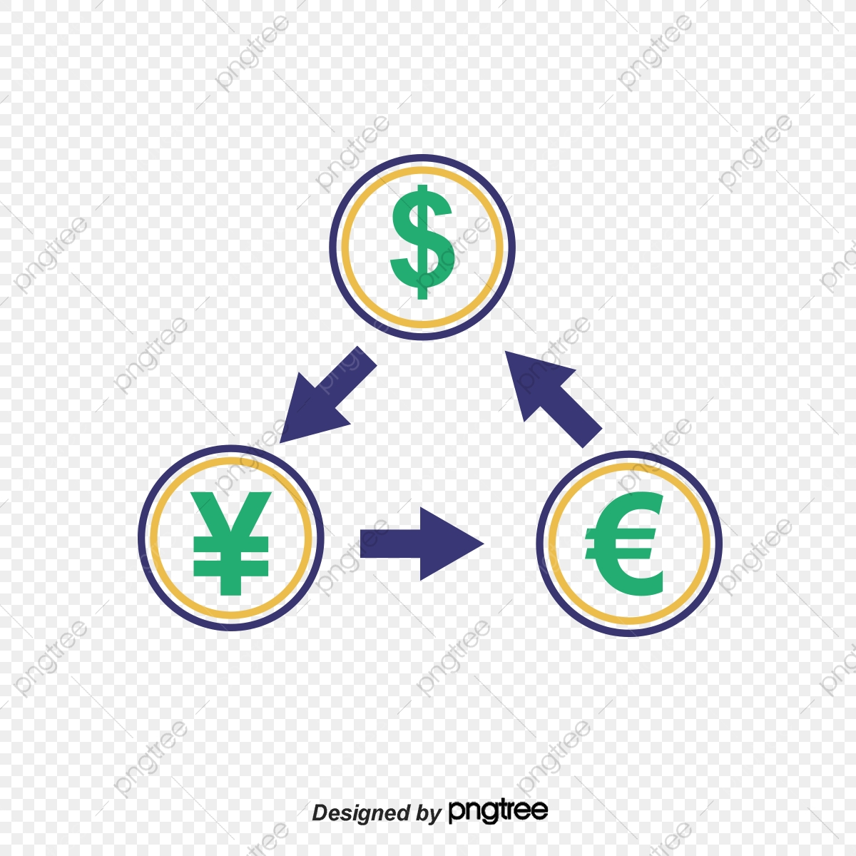 Exchange Rate, Vector Png, Foreign Currency Exchange, Dollar.