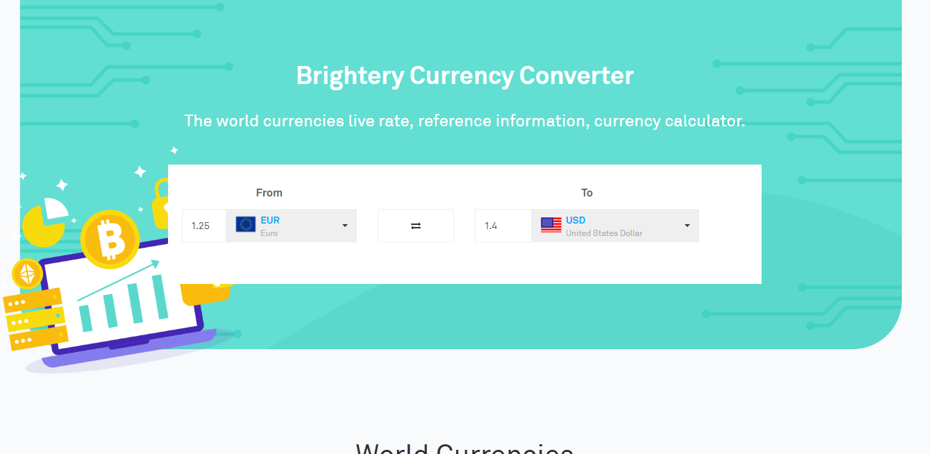 Brightery Currency Converter.