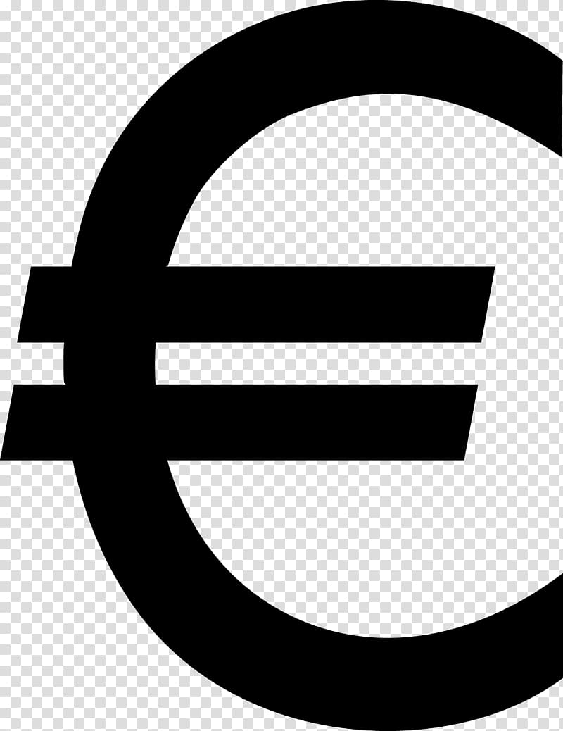 Euro sign Currency symbol , Euro sign transparent background.