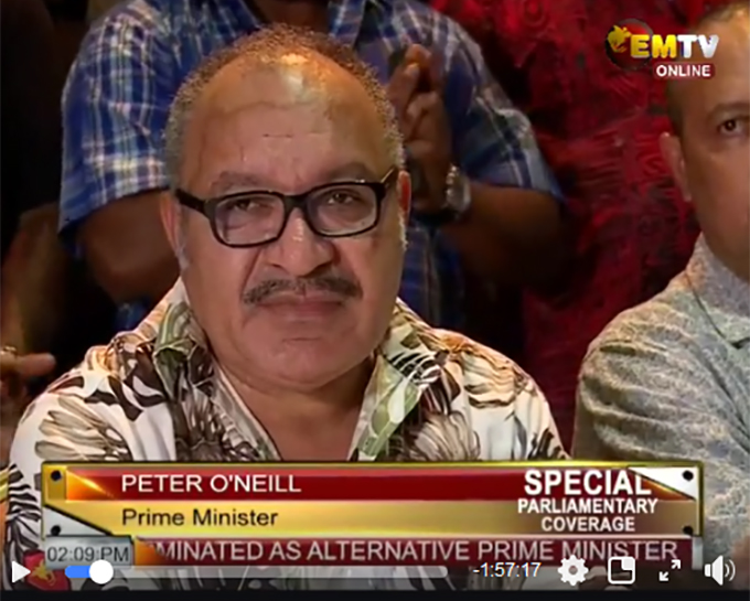PNG Parliament erupts in chaos as Speaker rejects opposition.