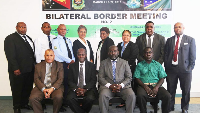 PNG, Solomon Islands Customs meet.