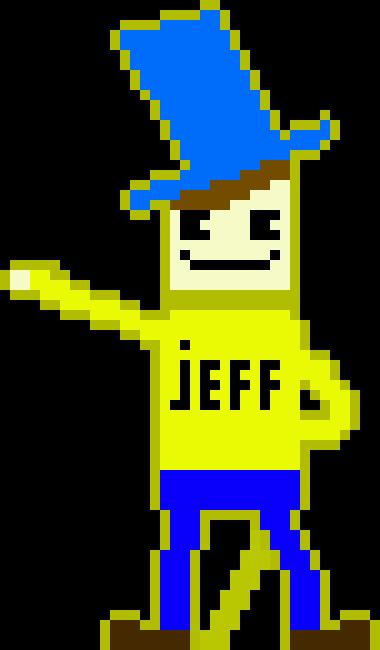 Willy Wonka Jeffy Style Cutout.