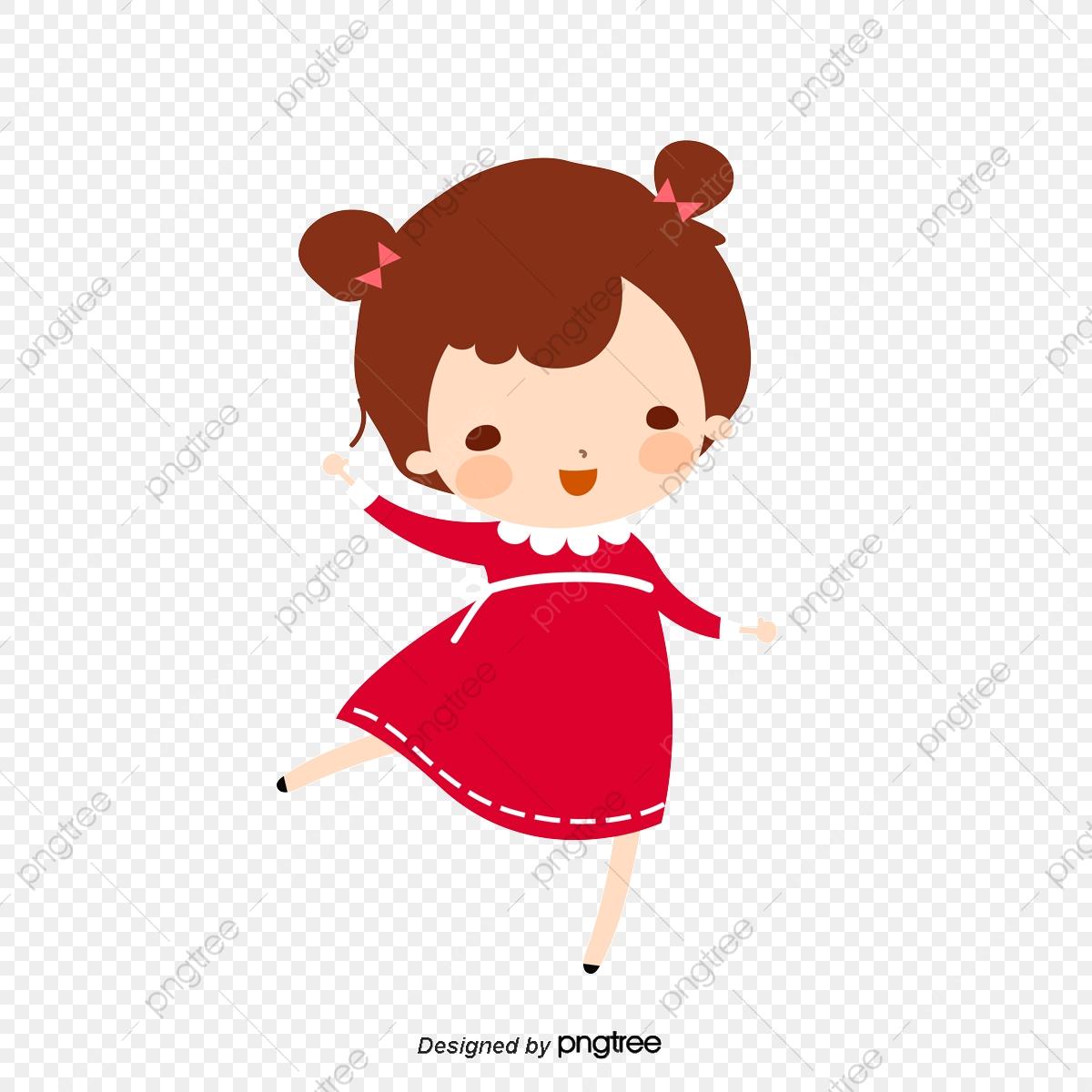 Vector Cartoon Girl, Cute Cartoon Girl, Cute Girl, Girl PNG.