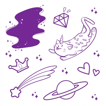 Cute Sticker PNG Images.