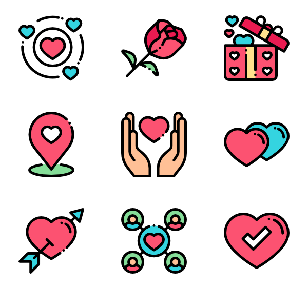 11 dating app icon packs.