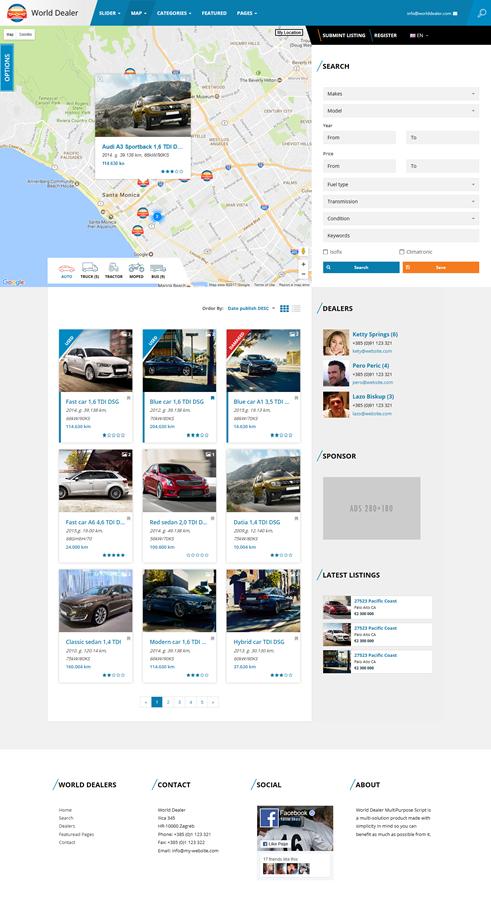 Car Dealer Classified Directory Template.