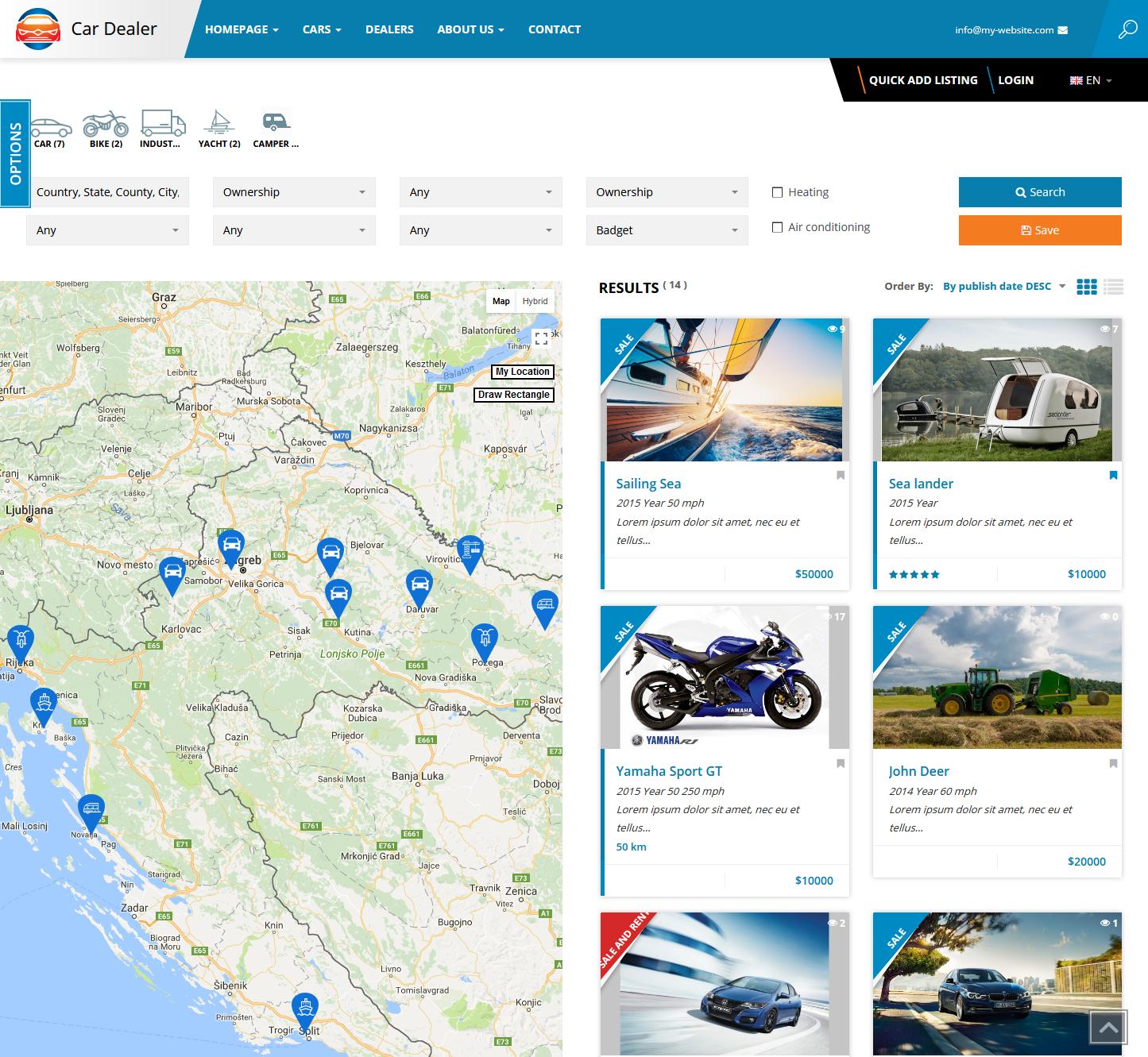 Car Dealer Listings Directory.