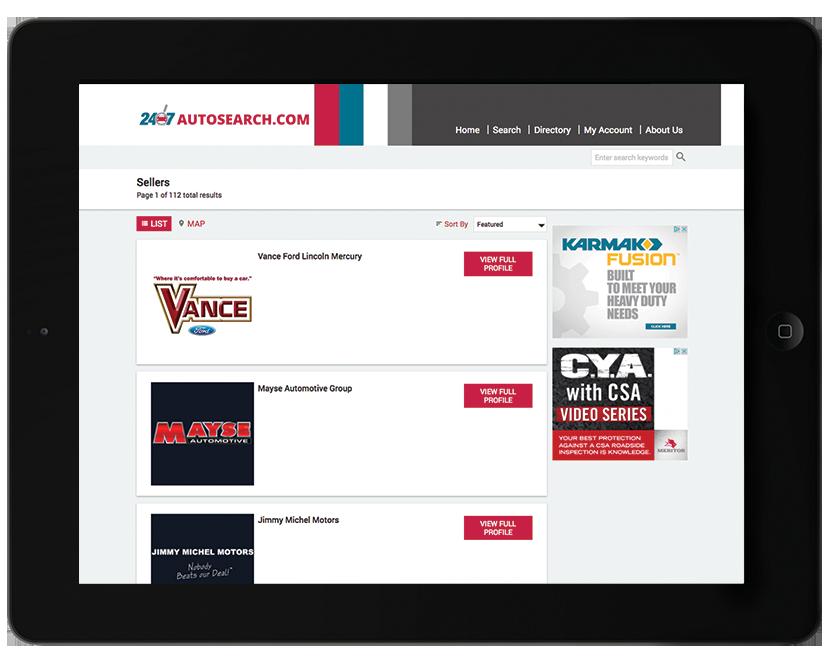 Premium Dealer Directory.