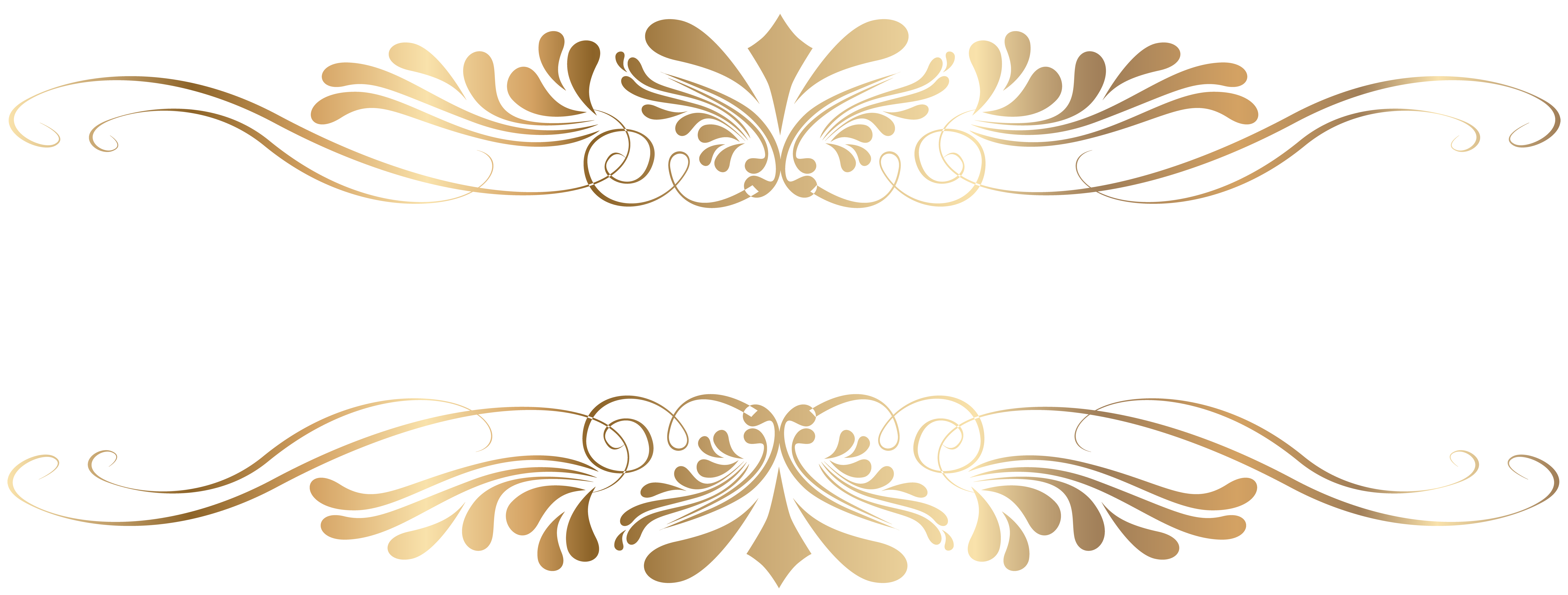 Golden Decorative Element PNG Clip Art.