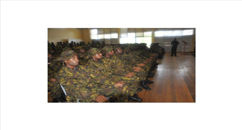 Papua New Guinea Defence Force Recruits Commence Training.