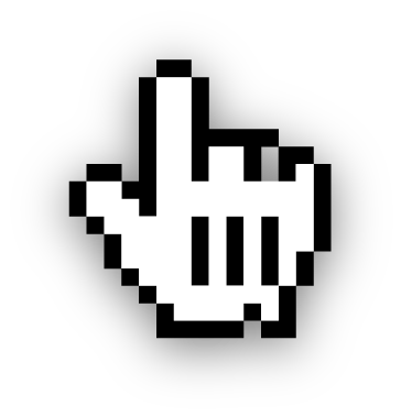 Description Cursor icon with shadow #1145.