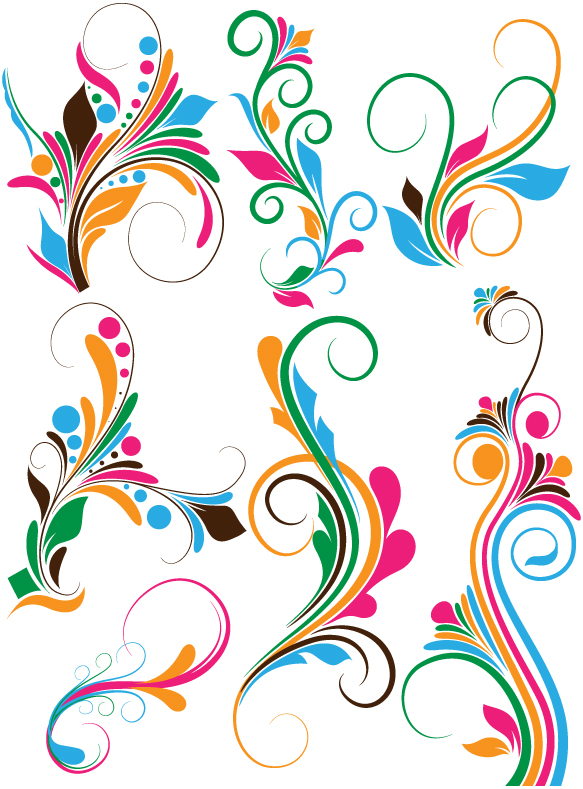Flourish swirls Vectors, Brushes, PNG, Shapes & Picture.