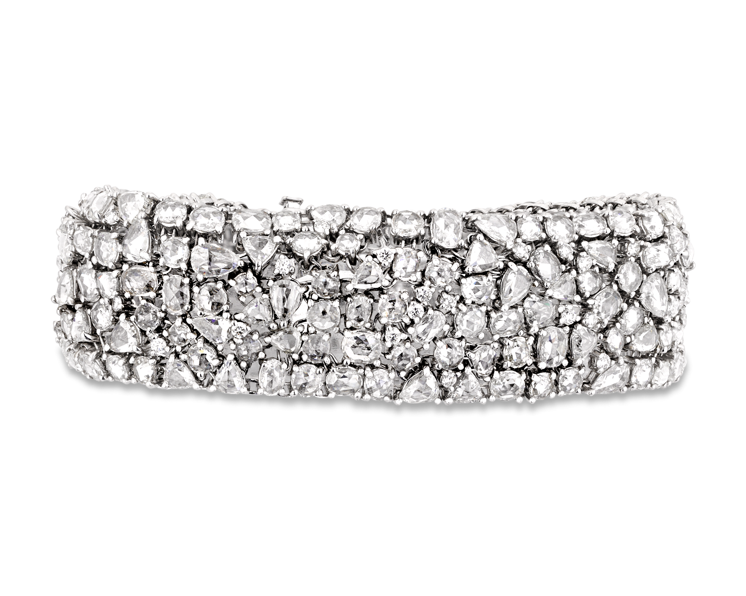 Rose Cut Diamond Bracelet.