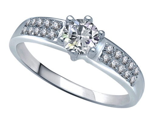 Diamond Ring PNG Transparent Image.