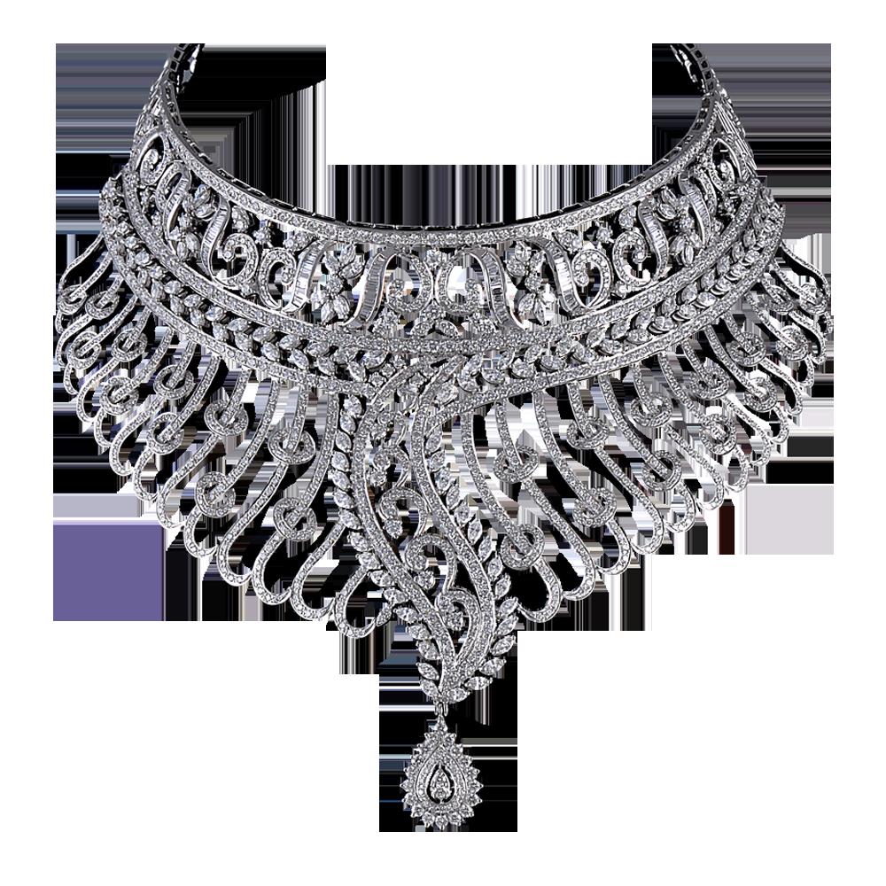 Download Diamond Necklace Transparent PNG.
