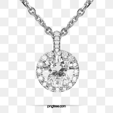 Diamond Necklace PNG Images.