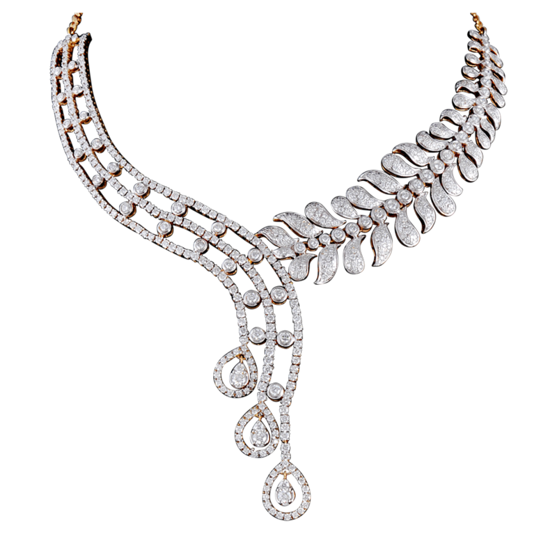 Download Free png Diamond Necklace Transparent Background.
