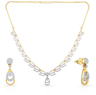 Mine Diamond Necklace Set Nsnls1582a.