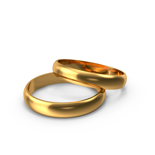 Gold Wedding Rings PNG Images & PSDs for Download.