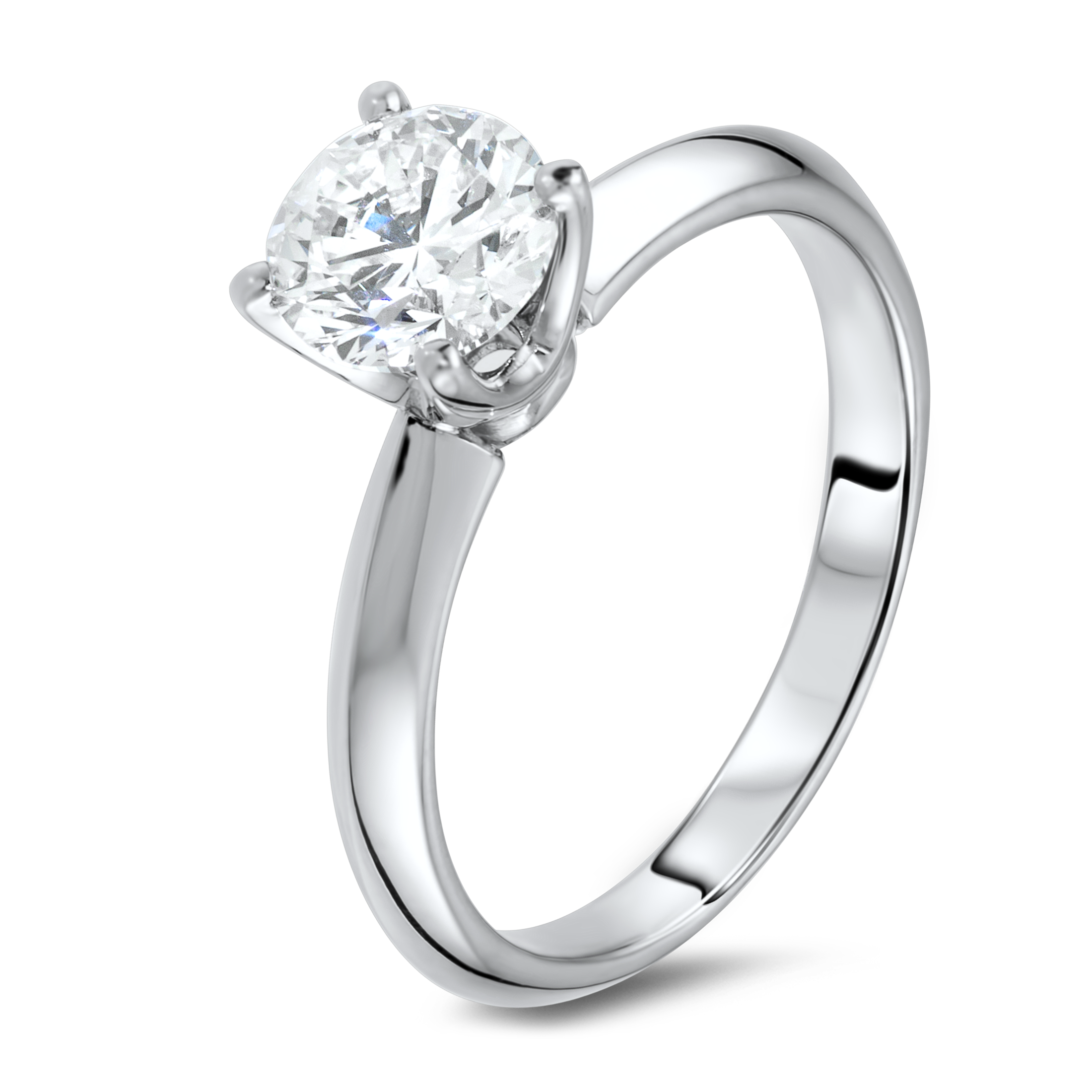 Diamond ring in 18k white gold.
