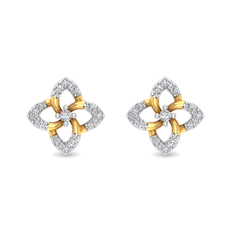 Bloomy Diamond Earrings.
