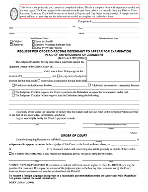 Fillable maryland district court forms complaint.