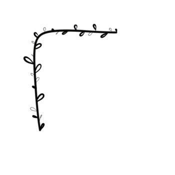 Set of 20 .png DOODLES corners by thrania.
